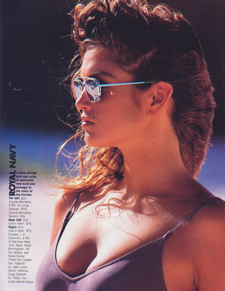Cindy Crawford by Gilles Bensiomon in 1989 in l.a Eyeworks Clip Ons