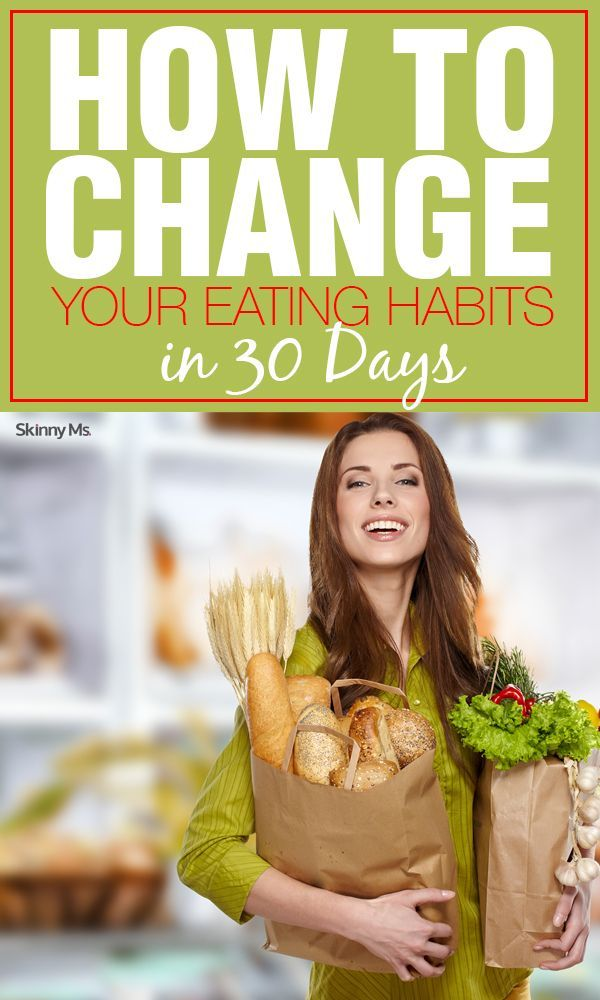 Eating habits are hard to break, especially the ones weve been living with since childhood. But you have the power to change. In fact, you can start today. Were sharing a week-by-week guide on how to change your eating habits in 30 days. #cleaneating #h