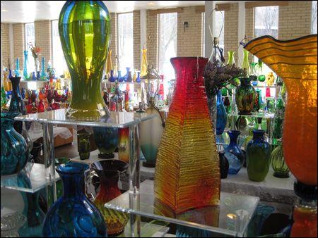 Blenko Glass manufacturing beautiful mouth-blown glass since 1893.  Huntington WV