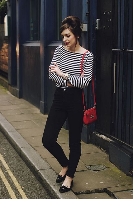 Breton Striped Tee Shirt sixties beehive beatnik by What Olivia Did,