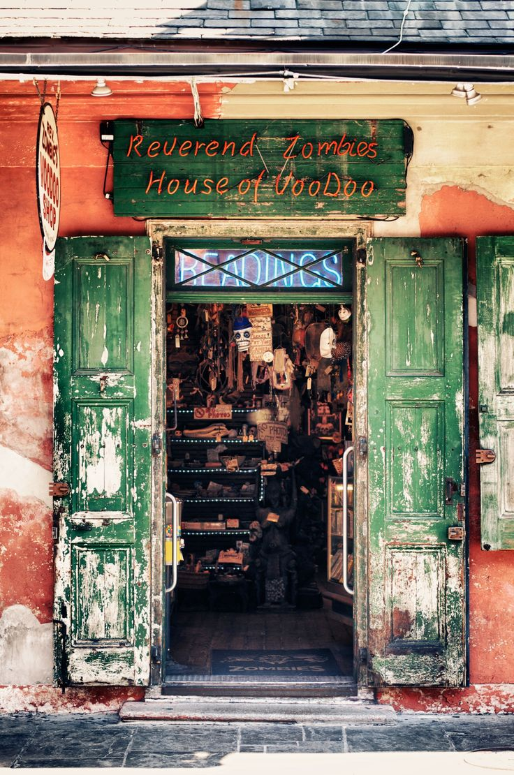 There are some great little shops in New Orleans. This little weathered shop off of Bourbon Street caught my eye with its beat up doors and the great sign. I love New Orleans.