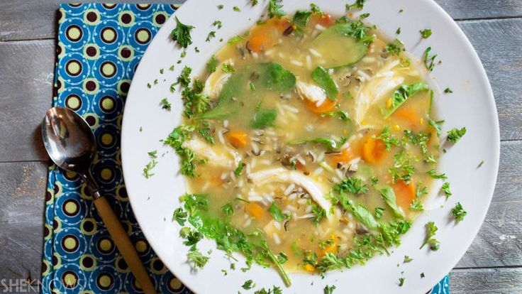 Use up those holiday leftovers to make this tasty turkey, veggie and wild rice soup