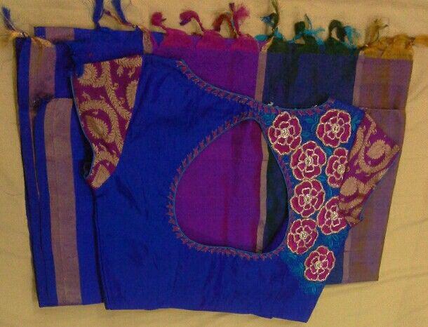 Uppada pattu saree with banaras hands and work 7702919644