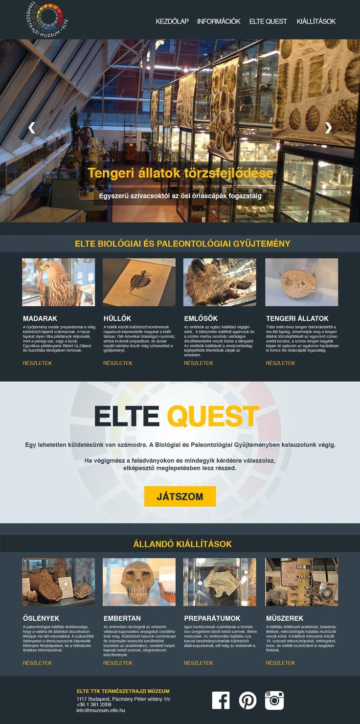 ELTE Quest webdesign