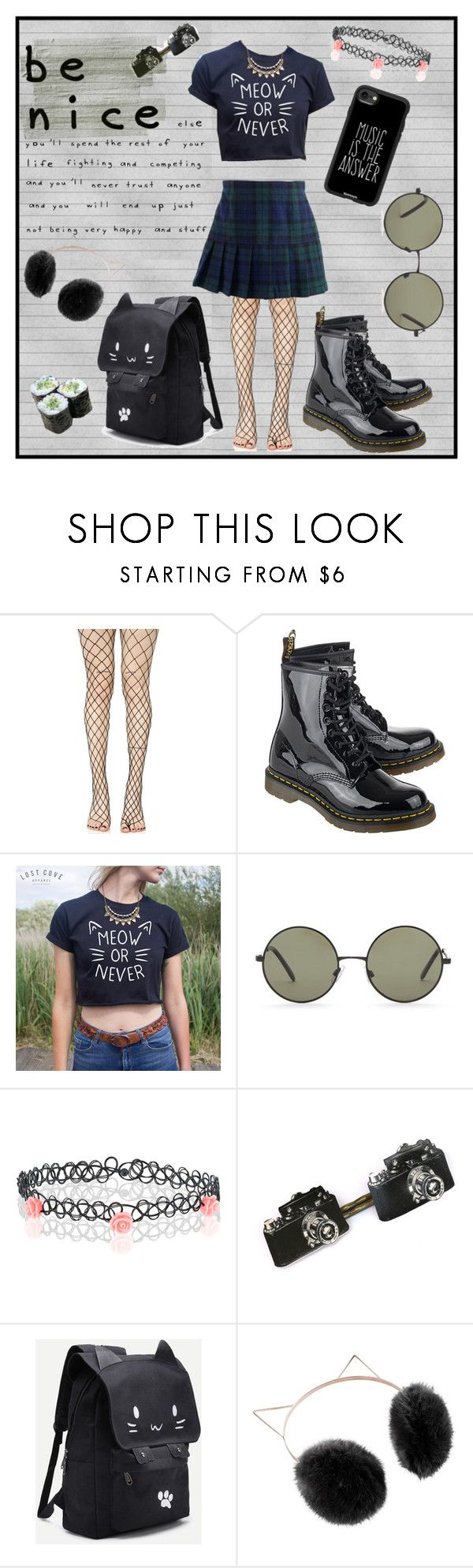 """be nice"" by faqinhell ❤ liked on Polyvore featuring Leg Avenue, Rachel Riley, Dr. Martens, Forever 21, Accessorize, LC Lauren Conrad, Casetify, men's fashion and menswear"