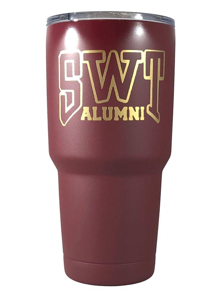 Texas State Bobcats - personalized 30 oz Custom Powder Coated Yeti / Custom Coated Cups Tumbler - (Logo is SEALED)