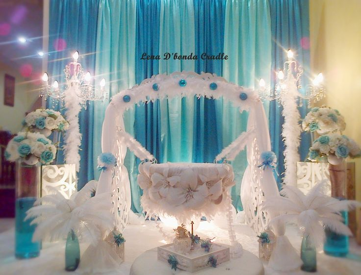 17 best images about cradel decoration on pinterest for Baby shower decoration singapore