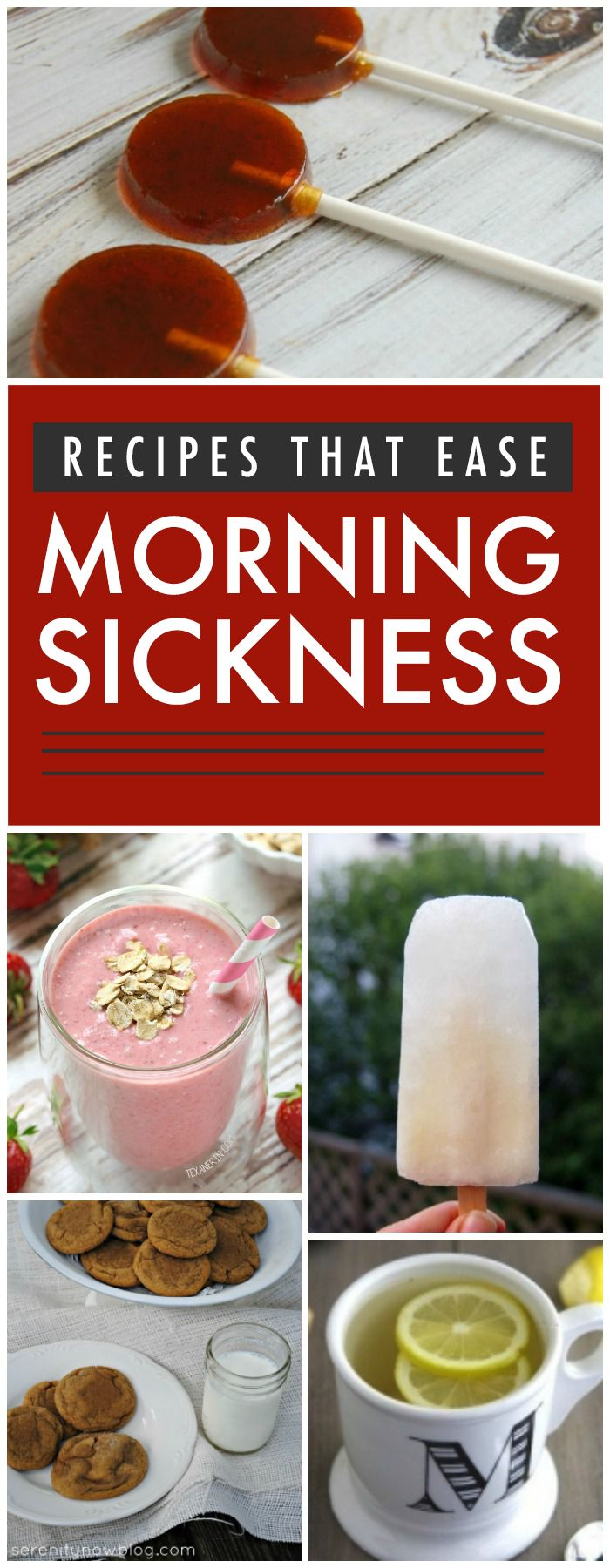 10 Recipes That Help Ease Morning Sickness. These foods also help with any nausea or upset stomach.