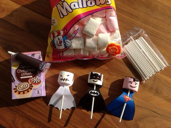 Superhelden marshmallows traktaties