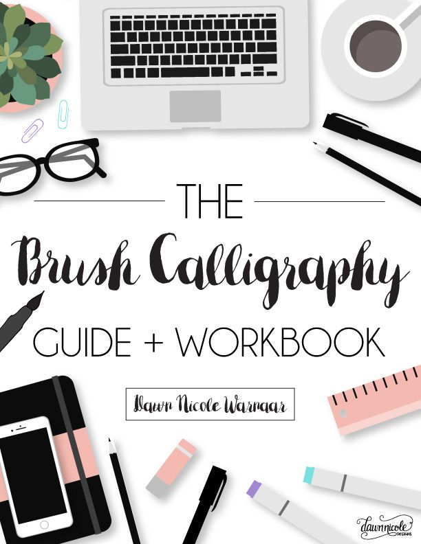 The brush calligraphy guide and workbook