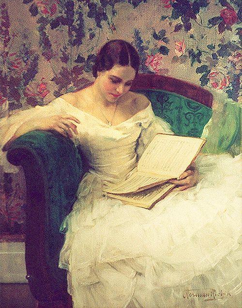 ✉ Biblio Beauties ✉ paintings of women reading letters & books - Herman Richir