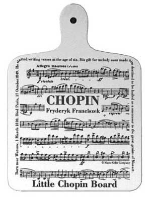 How cute! A play on words and a clever little music gift for the musician in your life. The perfect musical kitchen gift.