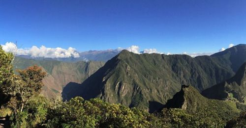 The view halfway up the Montana! #Peru #MachuPicchu #Montana #RTW #JulesVernex2 More on our stay in Peru on our travel blog julesvernex2.wordpress.com