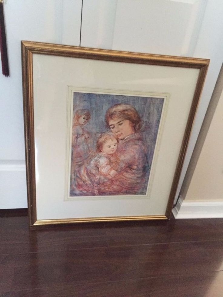 FRAMED AND MATTED EDNA HIBEL PRINT LORRAINE AND SANDY