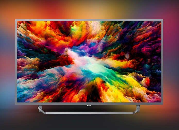 Tv Philips 50pus7303 Uhd Ambilight 3 Cotes Android Tv Pas Cher Televiseur 4k Fnac Ventes Pas Cher Com Tv Led Televiseur Led