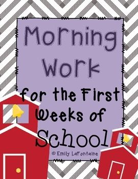 This file contains 10 back-to-school worksheets for use as morning work during the first two weeks of school. It is appropriate for students in the intermediate grades (third, fourth, fifth, and/or sixth graders).