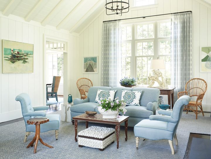 Blue And White Hamptons Living Room Phoebe Howard