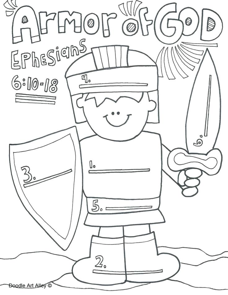 Armor Of God Coloring Pages Best Of Full Armor Of God