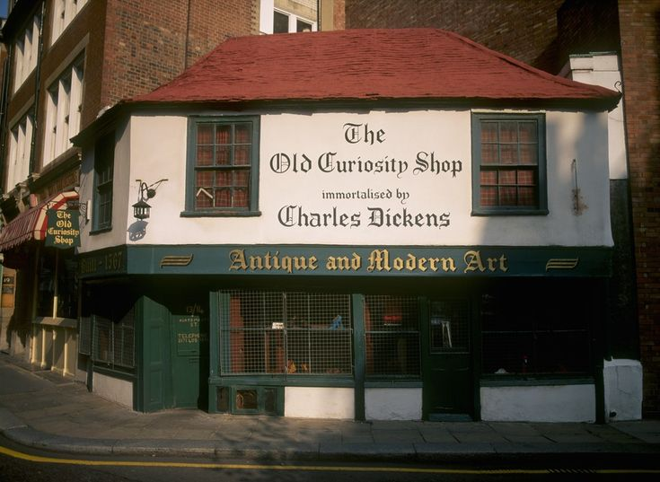 The Old Curiosity Shop is a novel by Charles Dickens. The plot follows the life of Nell Trent and her grandfather, both residents of The Old Curiosity Shop in London.