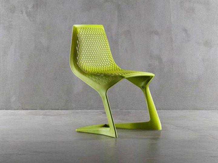 Cadeira cantilever empilhável de plástico MYTO - Plank