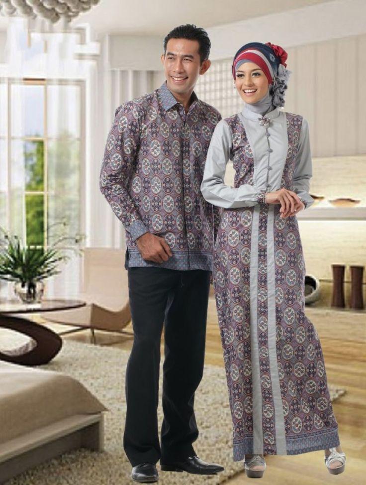 Model gamis cantik gamis batik sarimbit #Hijab #BusanaMuslim #Hijabi #HijabTutorial www.hafana.com