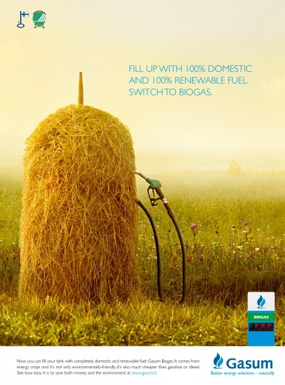 Gasum Biogas: Hay
