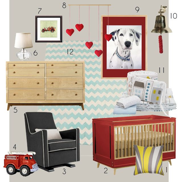 Nursery for a little fireman. Nicole might like this :)