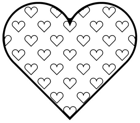 182 best Printable Hearts Coloring images on Pinterest | Herzchen ...