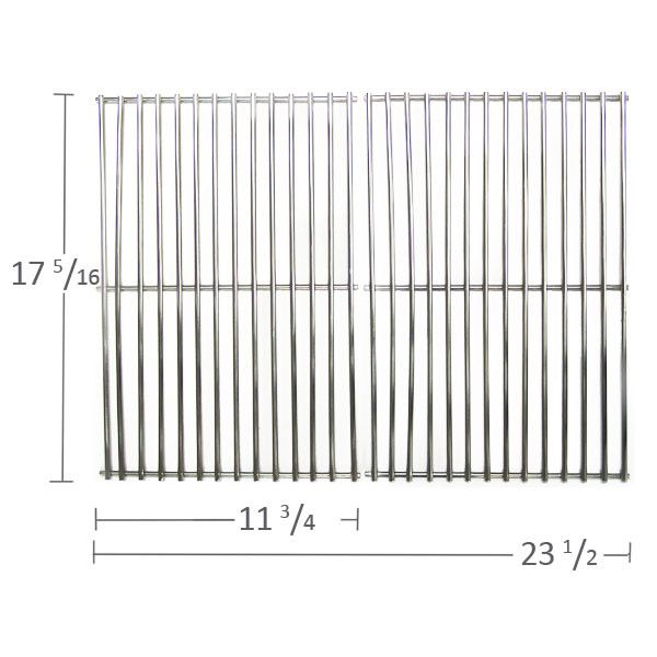 2 PACK STAINLESS STEEL COOKING GRID 538S2-2614 COMPATIBLE WITH GRAND HALL, KALAMAZOO, KENMORE, KMART, MEMBERS MARK, NEXGRILL & WEBER GAS GRILL MODELS  Fits Grand Hall Models:   REGAL04CLP  BUY NOW @ http://www.bbqtek.com/shopexd.asp?id=9994&sid=5518