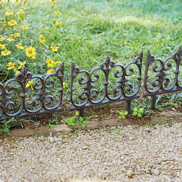 Fleur De Lis Cast Iron Garden Fence Garden Fencing Disney