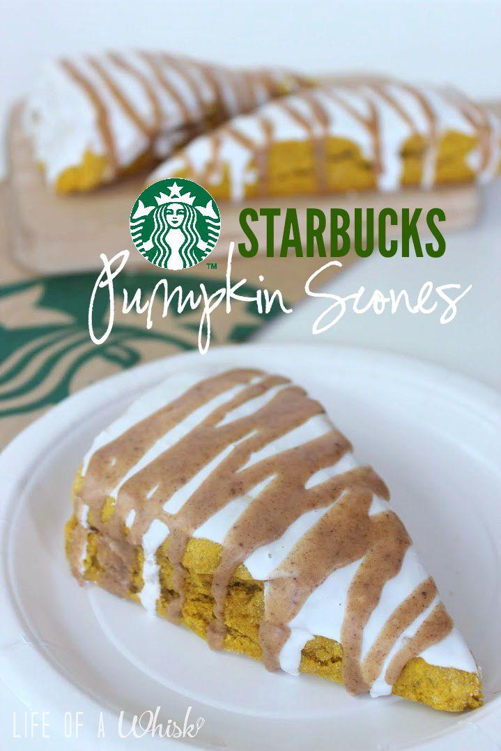 Copycat Starbucks Iced Pumpkin Scones