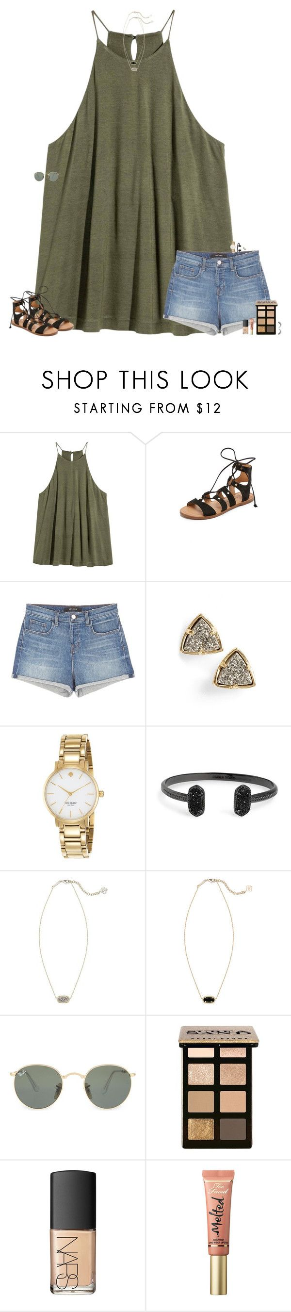 """""""So ready for summer"""" by maggie-prep ❤ liked on Polyvore featuring Dolce Vita, J Brand, Kendra Scott, Kate Spade, Ray-Ban, Bobbi Brown Cosmetics, NARS Cosmetics and Too Faced Cosmetics"""