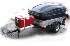 Pull Behind Motorcycle Trailer, Motorcycle Cargo Trailer, Custom Trailer