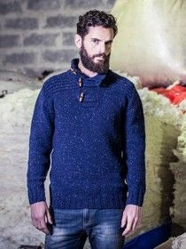 Aran Button Sweater FDZ23M