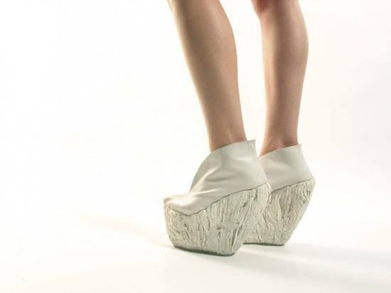 porcelain shoes by Laura Papp