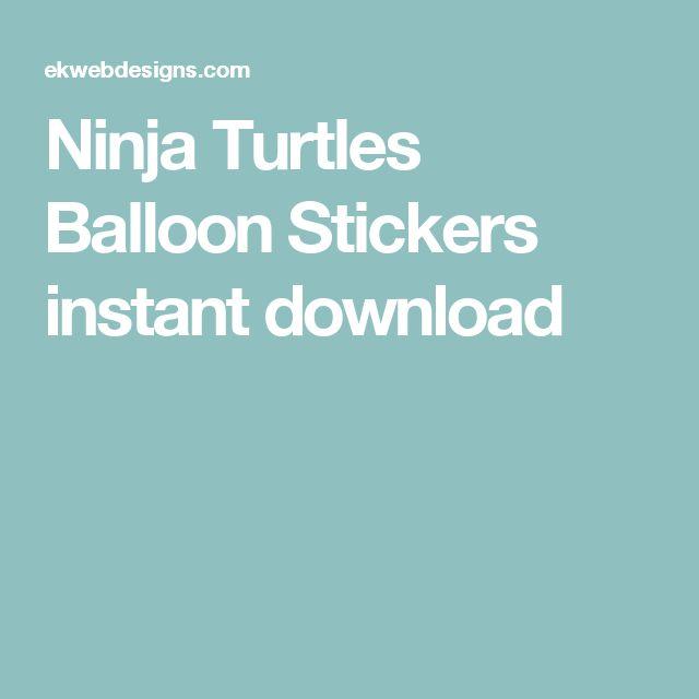 Ninja Turtles Balloon Stickers instant download