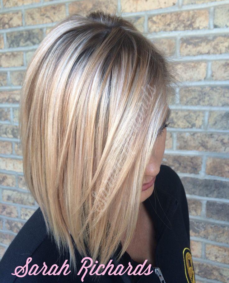 Light rose gold highlighted blonde hair.