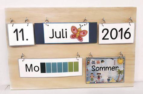 """Gefällt 91 Mal, 10 Kommentare - Grundschulkrusch (@grundschulkrusch) auf Instagram: """"Ein Blickfang in meinem Klassenzimmer: das selbstgemachte Kalenderbrett. Am Morgen kümmert sich der…"""""""