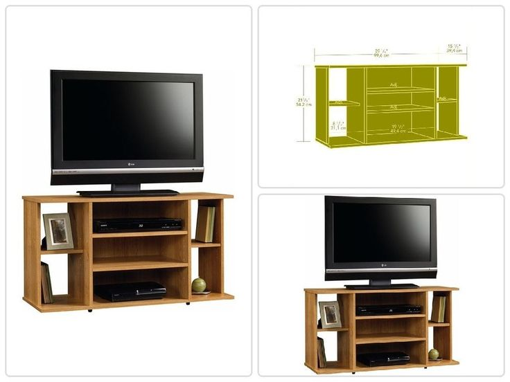 "Oak #TV Stand for TVs up to 42"" TV's #Entertainment #Media #Center Adjustable Shelf"