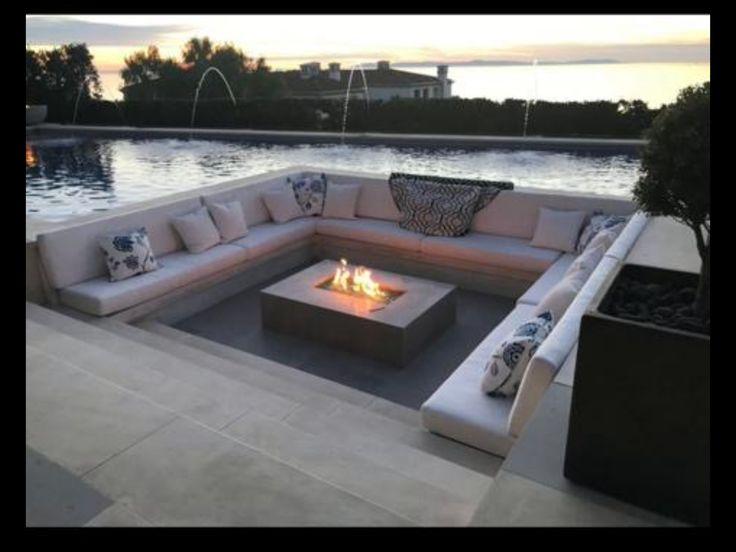 Sunken boma met firepit | Fire pit backyard, Rooftop ... on Modern Boma Ideas id=58477