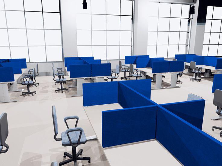 """Linea TXT """"desk"""" - Pannelli divisori, pareti mobili, separè su ruote, schermi flessibili, progettazione, produzione e vendita - Clipper System #divisorio #fonoassorbente"""