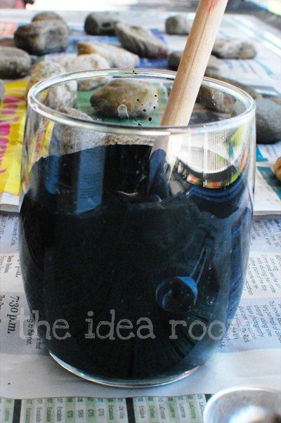 "Homemade Chalkboard Paint (cheap and can make in any color!) simply mix 1 cup of paint and 2 Tablespoons of grout. That's it! Just make sure to stir it really well so that there are no lumps. You can use any paint. (Use several coats; let dry for days; ""cure"" by chalking over all with side of chalk first use)"