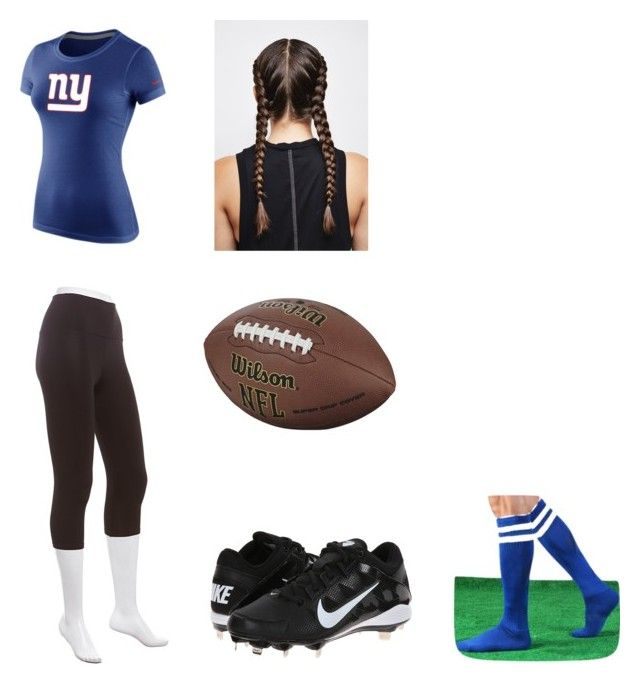 """Football player costume"" by justindean on Polyvore featuring NIKE"