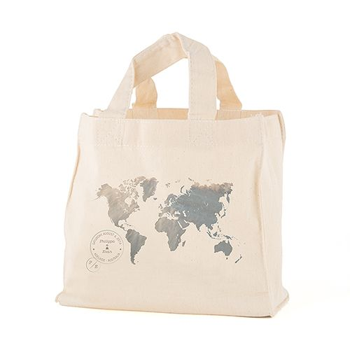 Wanderlust World Map Personalized Tote Bag - The Knot Shop