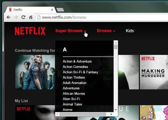 How To Browse Hidden Categories In Netflix [Chrome] https://plus.google.com/+DanievanderMerwe/posts/EpZgrHtRjxs