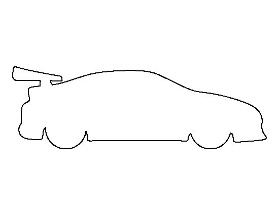 Race car pattern. Use the printable outline for crafts, creating stencils, scrapbooking, and more. Free PDF template to download and print at http://patternuniverse.com/download/race-car-pattern/