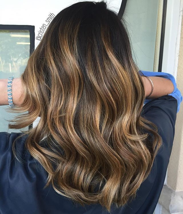 15 Balayage Hair Color Ideas With Blonde Highlights: Rooty Honey Balayage On My Clients Natural Base