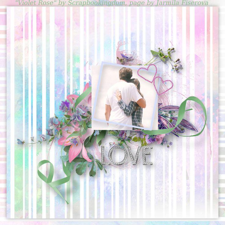 """""""Violet Rose"""" by Scrapbookingdom, https://www.etsy.com/au/listing/538663922/violet-rose-digital-scrapbook-kit-turned?ref=shop_home_active_1, photo Pixabay"""