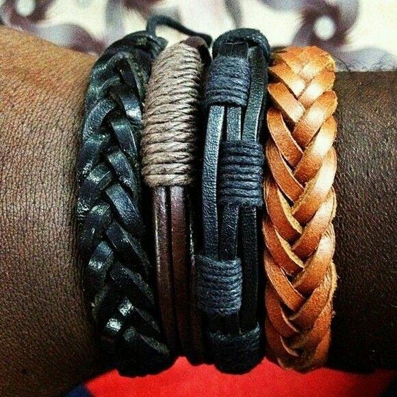 #accessorios   #men #bracelet #leather