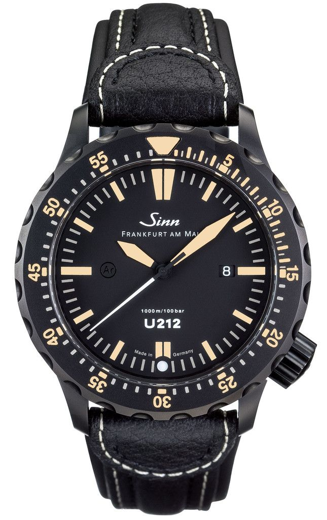 Sinn Watch U212 S E Leather Limited Edition - love the gold hands and numerals, really easy to tell the time but still a classy timepiece,